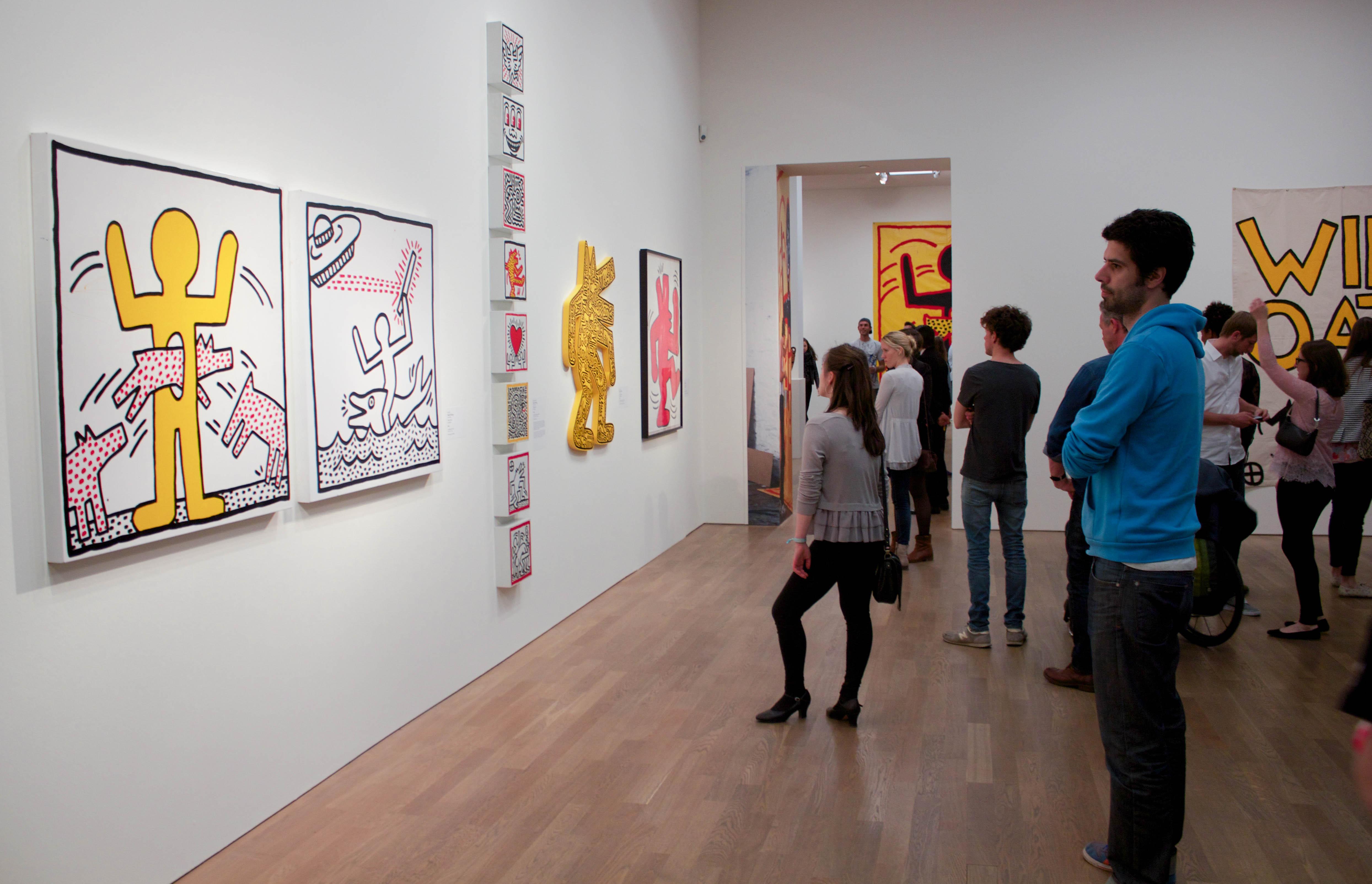 React In Der Hypo Kunsthalle Zur Keith Haring Ausstellung
